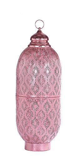 Marokkanische Laterne Orientlampe orientalische Adeena Rosa Glanz Finish Zum Stellen und Hängen,Deko, Wohnzimmer Deko