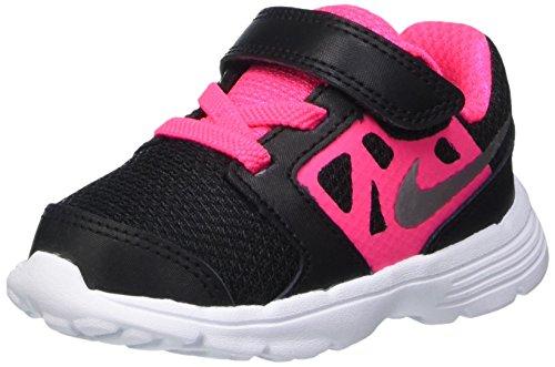 Nike Downshifter 6 (Td) Scarpe Walking Baby, Bambina, Multicolore (Blk / Mtllc Slvr-Hypr Pnk-White),...