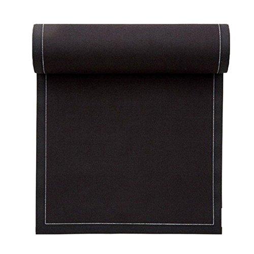 Serviette de table en coton 32x32cm - Rouleau de 12 serviettes - Noir