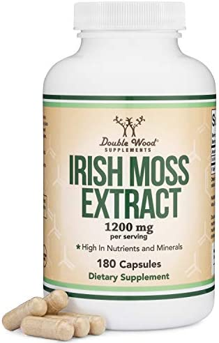 Irish Sea Moss Capsules Ultra High Purity Potent Extract 180 Count 1 200mg per Serving from product image