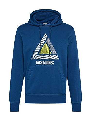 Jack & Jones Jcogeek Sweat Hood Fst Sudadera con Capucha, Peonía Azul Marino, M para Hombre