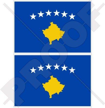 Kosovo kosovarischer Flagge Kosovo 10,2cm (100mm) Bumper Sticker, Aufkleber Vinyl X2