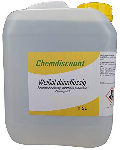 5Liter Weißöl dünnflüssig, Paraffinum perliquidum, Pharmaqualität, versandkostenfrei