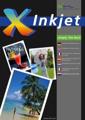 SIHL Inkjetpapier Fotopapier Quick Dry 0769, 0769, A4, 9.600 dpi, 280 g/m², weiß, glänzend (50 Blatt), Sie erhalten 1 Packung á 50 Blatt