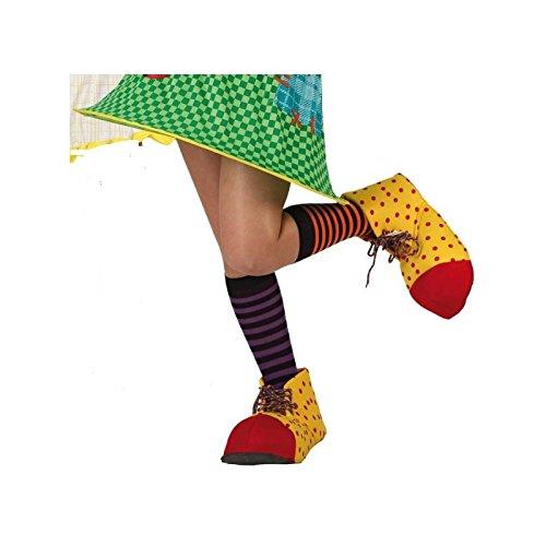 Atosa 69793Clown Copriscarpe per Bambini, 28cm, Colore: Rosso/Verde