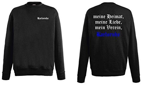 world-of-shirt Herren Sweatshirt Karlsruhe Ultras Meine Heimat
