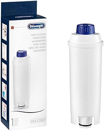De'Longhi DLSC002 Wasserfilter | Zubehör für alle De'Longhi Kaffeevollautomaten mit Wasserfilter | Pflege und Schutz der Maschine | Kalkreduzierend | Weiß