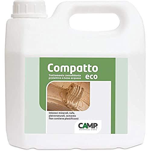 Camp COMPATTO ECO, Trattamento consolidante e protettivo per pietre naturali, intonaci minerali e cemento poroso, Anti-spolvero, Eco-Friendly