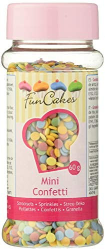 FunCakes Sprinkles Decoraciones de Mini Confetti de 5 Colores Mezclados para Decorar...