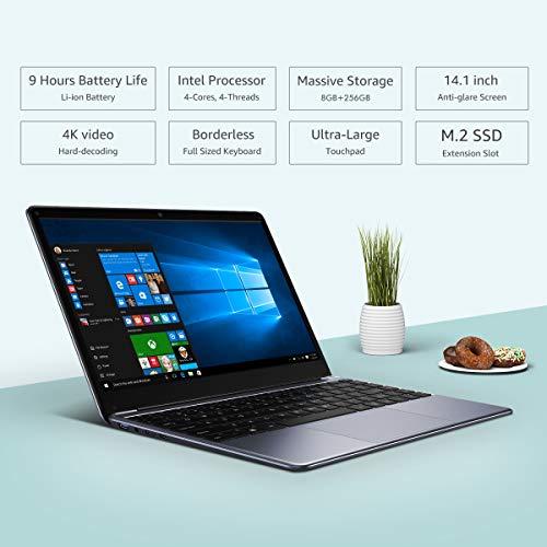 Product Image 2: CHUWI Herobook Pro 14.1 inch Windows 10 Intel N4000 Dual Core 8GB RAM 256GB ROM Notebook,Thin and Lightweight Laptop,BT4.0 (Herobook Pro (Herobook Pro(2020))