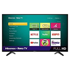 Combining rich 1080p picture quality, intuitively smart Roku TV platform, built-in Wi-Fi, and innovative technologies, Hisense H4F series smart TVs are great for all your needs—streaming, cable, satellite, gaming, and free over-the-air TV. Enjoy all ...