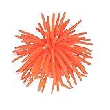 Balacoo Decoración del Acuario Artificial Luminoso Bola de Erizo de Mar Falso Silicona Coral Mascota Masticar Juguetes para Acuario Pecera