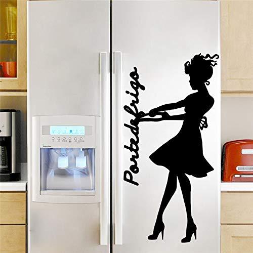 Kswlkj Süßes MädchenWandaufkleber,3D-Effekt Wandtattoo,DIY Vinyl Poster Aufkleber,Entfernbare Wandaufkleber,Art Dekore Wohnzimmer/Schlafzimmer Romantisch Hintergrund,