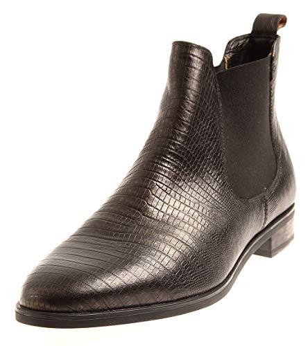 Kimkay Chelsestiefelette Stiefelette Damenschuhe Schuhe Chelsea Boots Leder Schwarz EU 41