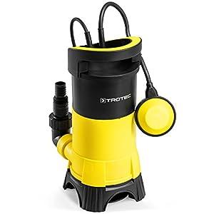 TROTEC Bomba Sumergible para Agua residuales TWP 7025, 750 W, Protección contra Marcha en seco, Profundidad de inmersión máx.: 7 m, Capacidad máx.: 13.000 L/h, Jardín