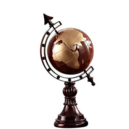 PANGPANGDEDIAN Dekoration Globus Skulptur Ornamente Amerikanischen Bücherregal Dekorationen Globus Ornamente Retro Schreibtisch Büro Dekoration Möbel Zubehör
