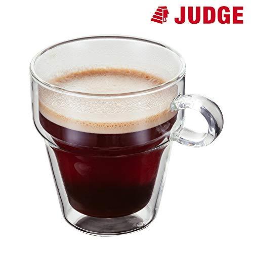 Judge empilable Tasse à café, Lot de 2, Verre, 250 ML