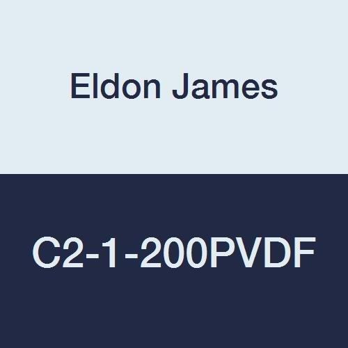 Eldon James Cheap mail order sales C2-1-200PVDF Industrial Kynar Reduction Classic Gray Coupler