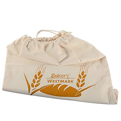 Westmark Bolsa para pan/almacenaje, Con cordón, Algodón, Blanco natural, 32102270