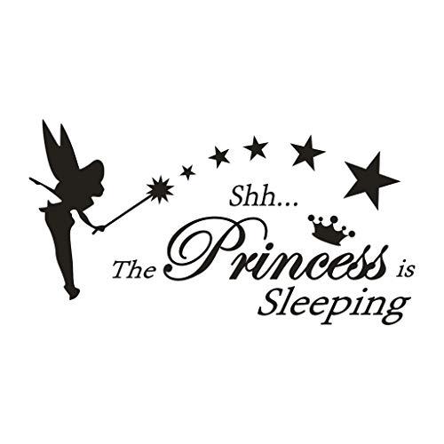 Bedroom Teen Girl Wall StickerThe Princess Is Sleeping PVC Sticker Wall Sticker Wall Sticker Living Room Decoration