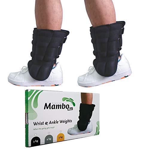 MVS 2 Pesi Caviglie da 4 kg CADAUNO Fitness Sport cavigliere Wrist Ankle Weights