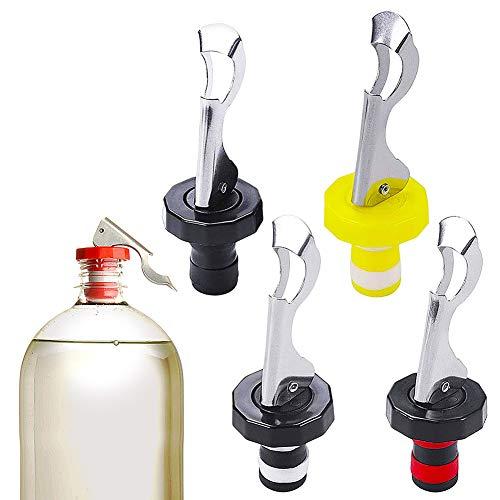 Piezas Tapón De Vino, CYSJ 12 PCS Tapones para Vino de Silicona, reutilizable vino Corchos, Tapón de Botella Para Vino Colección Vino Tinto Champán Cerveza Ahorrador Sellador Acero Inoxidable
