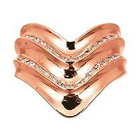 [ココカル]cococaru ダイヤモンド リング k18 イエローゴールド/ホワイトゴールド/ピンクゴールド 品質保証書 金属アレルギー 日本製(ピンクゴールド 21)