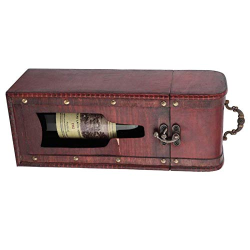 FOLOSAFENAR Caja de Madera del Paquete del Vino del Regalo del Paquete del Vino para embalar la decoración Agradable de la Botella de Vino Tinto
