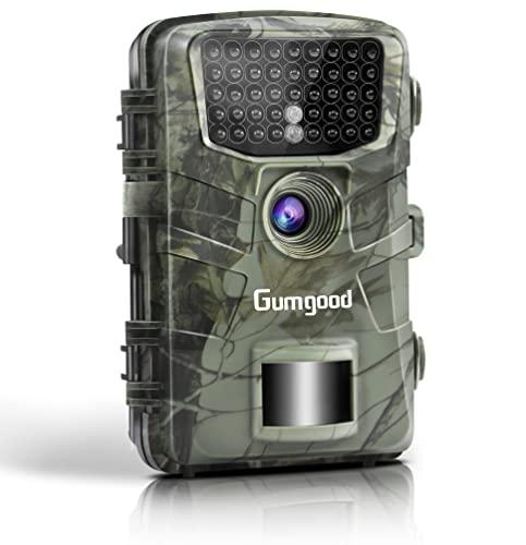 """4K 48MP Wildkamera mit Bewegungsmelder Nachtsicht Low-Glow 940nm IR LEDs Nachtsichtgerät Wildtierkamera aussen 0,1s Schnelle Trigger Geschwindigkeit IP66 Waterproof 2.31""""TFT LCD Nachtsichtkamera"""
