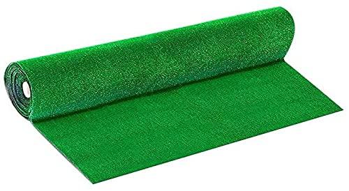 Prato Sintetico Manto Erboso Rotolo Erba Artificiale 7 mm Realistica Giardino Tappeto Erboso Sintetico Anti UV Atossico Drenante Ideale per Viali Piscina Terrazzo Aree Giochi (2 x 5 mt (10 mq))