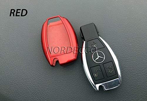 Funda para llaves de coche, fabricada con ABS de alta calidad, brillante, para llaves de Mercedes Be