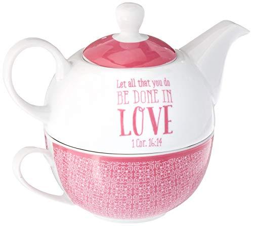 Blessings to the Teacher Tea-for-One Set - 1 Corinthians 16:14