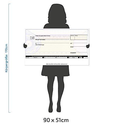 Riesen Großer Spendenscheck XXL PR-Scheck 90 x 51 cm, Spendencheck, Spenderscheck, Übergabescheck, Pressescheck