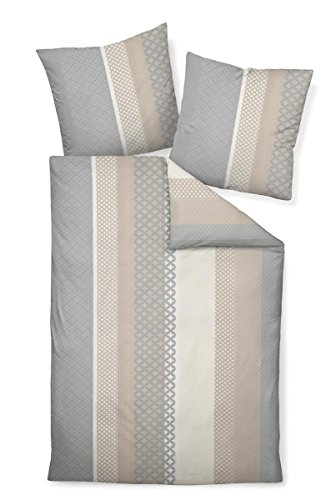 Janine Design Mako-Satin Bettwäsche Palermo 31043-07 1 Bettbezug 155 x 220 cm + 1 Kissenbezug 80 x 80 cm