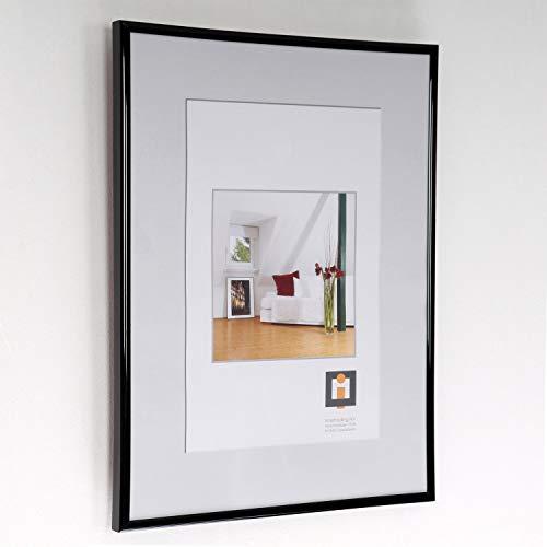 Cuadros Lifestyle Bilderrahmen aus Kunststoff | in verschiedenen Größen/Farben | Ohne Passepartout | Fotorahmen | Wechselrahmen | Portraitrahmen, Größe:50x70 cm, Farbe:Schwarz