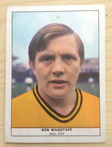 ANGLO Confectionery 1969/70 Football Quiz Card 31 Hull City KEN WAGSTAFF