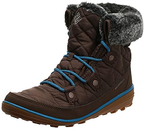 Columbia Women's Heavenly Shorty Omni-Heat Snow Boot, espresso mhw, deep ocean, 10