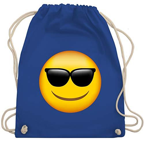 Comic Shirts - Emoticon Sonnenbrille - Unisize - Royalblau - sportbeutel damen - WM110 - Turnbeutel und Stoffbeutel aus Baumwolle
