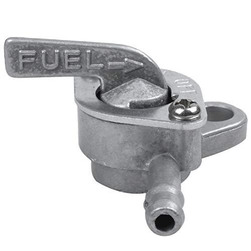 Liseng Grifo de gasolina universal de 6 mm para ciclomotor, ciclomotor, moto y quad con función de cierre