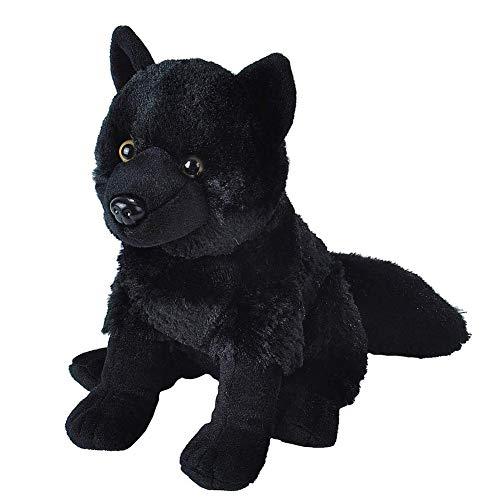 "Wild Republic Wolf Plush, Stuffed Animal, Plush Toy, Kids Gifts, Black, 12"""