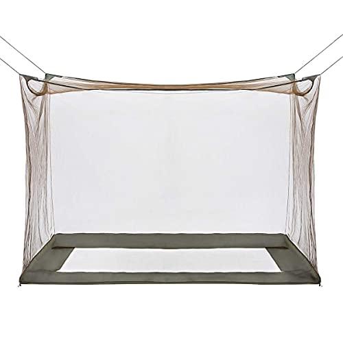 GLORYFIRE Camping Mosquito Net Four Corners Enhanced Tactical Mosquito Net Outdoor Mosquito Net Bar Olive Drab