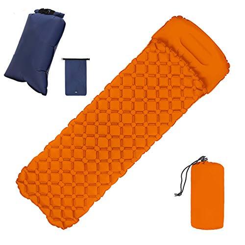 LOXBEE Colchón al aire libre con almohada de llenado rápido portátil de coche almohadilla de dormir picnic compacto colchón de aire para camping mochila