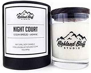 Highland Bluff Studio Night Court Signature Series Candle
