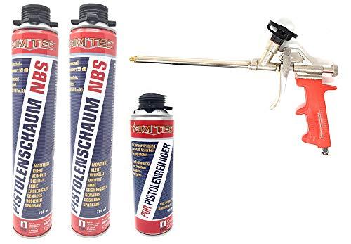 Toolzy 101641 4er Set 1k PUR- Pistolenschaum NBS Made in Germany Bauschaum Pistolenreiniger