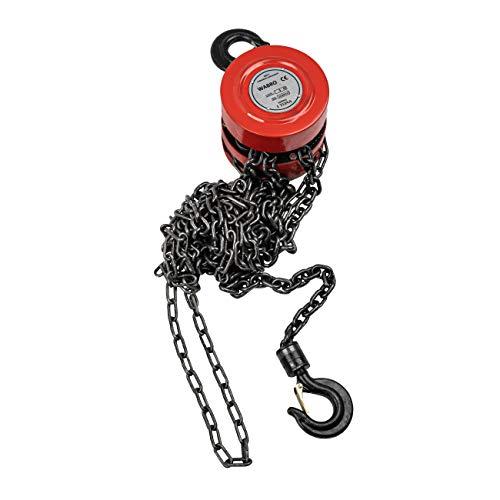 Polipasto de cadena de polea, palanca de elevaci贸n de 1 tonelada, 1000 kg, cadena de 3 m