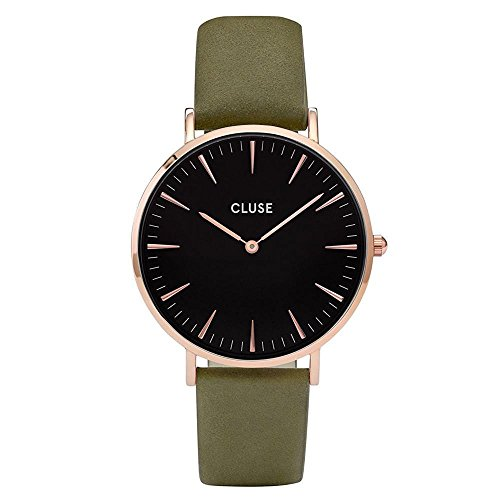 Cluse Damen-Armbanduhr Analog Quarz Leder CL18024