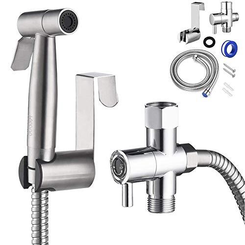 HOMEDAI Hand Bidet Sprayer für Toilette, Edelstahl Bad Bidet Sprayer Set Baby Stoff Windel Sprayer mit einstellbarem Wasserdurchfluss für die Reinigung von Haustieren