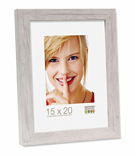 Deknudt Frames S45RH1-30.0X45.0 Bilderrahmen, Holz, Block-Zierleiste, 49,4 x 34,4 x 2,2 cm, Hellgrau
