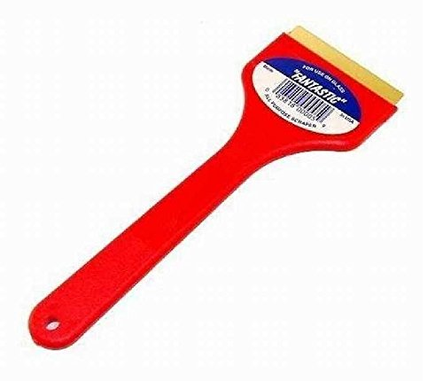 CJ Industries F-1 Fantastic Ice Scraper with Brass Blade, Red 3 Pack