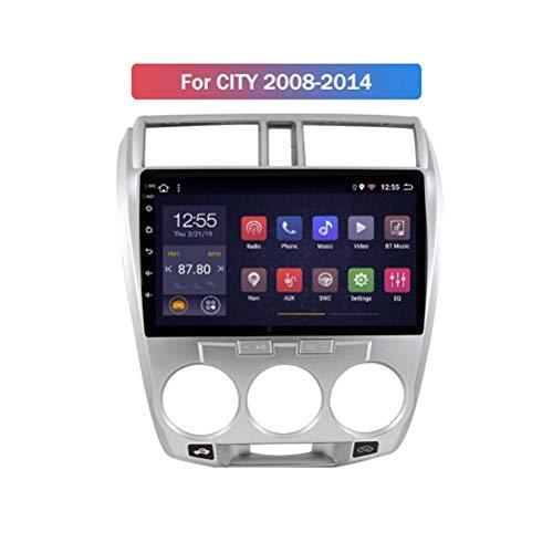 HP CAMP Android 9.1 8 Core Auto Multimedia für Honda City 2008-2014, Supporta la Fotocamera di Backup/Microfono/CarPlay/DSP/Bluetooth 5.0 / SWC/mappe Offline Online,4G WiFi 4G+64G